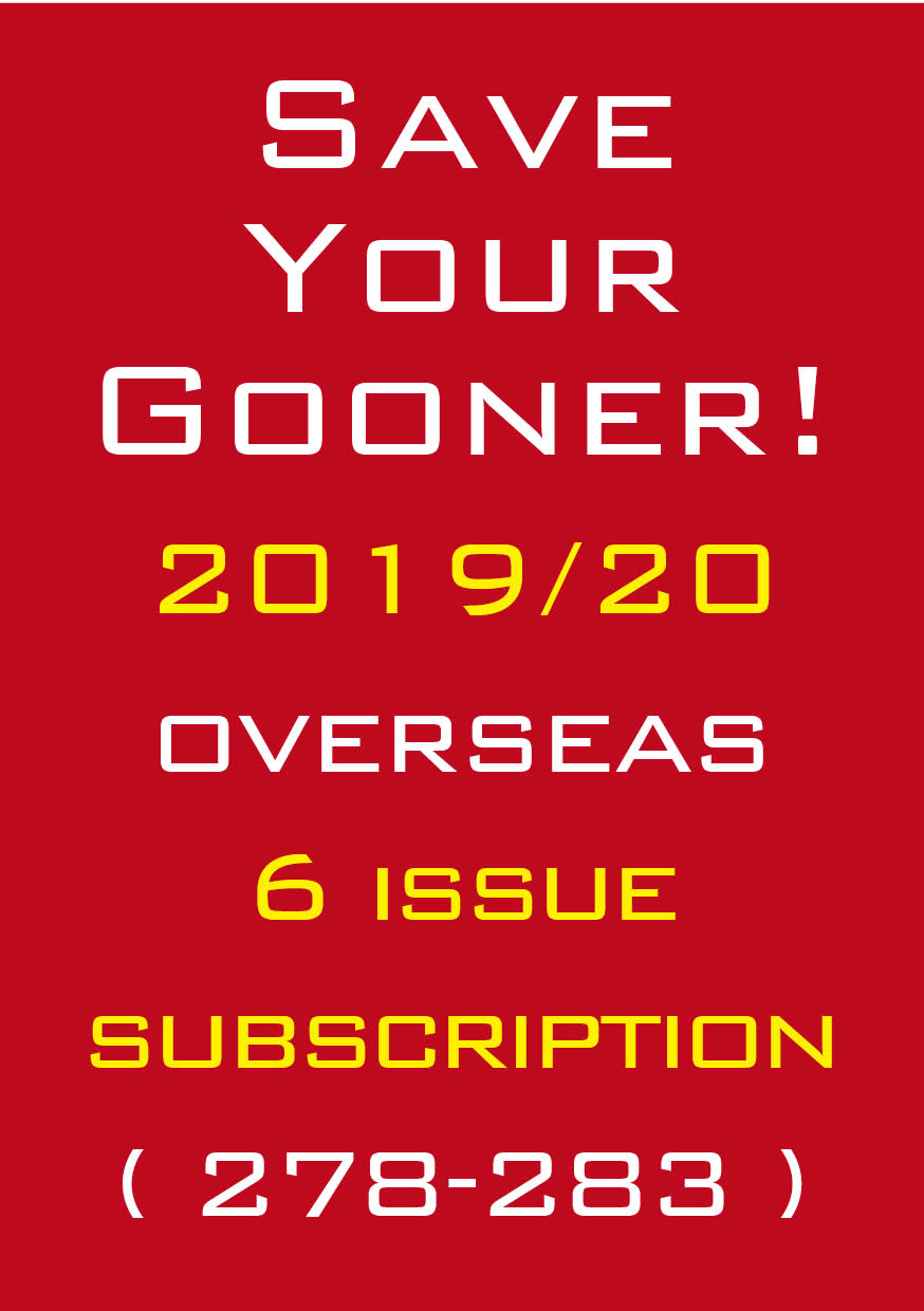 1b. The Gooner! - 2019/20 subscription Outside UK